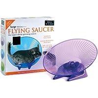 Small'n'furry - Plato volador de juguete para rueda de ejercicio, pequeño, 12,7 cm