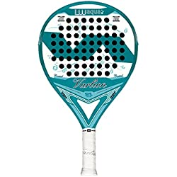 Varlion LW Aqua - Pala de padel para mujer, 38mm, color azul/blanco