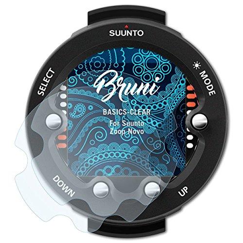 Bruni Schutzfolie kompatibel mit Suunto Zoop Novo Folie, glasklare Displayschutzfolie (2X)