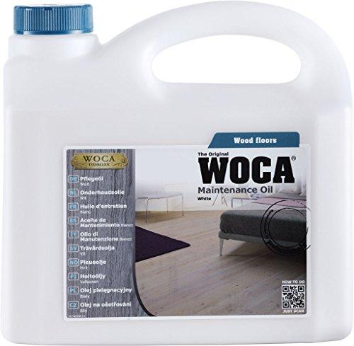 Woca - olio di manutenzione per pavimenti in legno 1 liter bianco