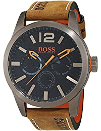 Hugo Boss Orange 1513240 Herren Armbanduhr, Quarz, mehrere Zähler auf dem Zifferblatt, Lederarmband