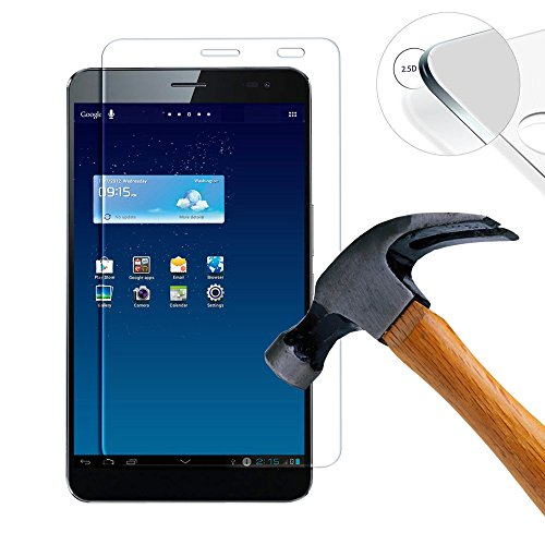 Lusee 2 x Pack Panzerglasfolie Schutzfolie für Huawei Mediapad X1 Bildschirmschutz Tempered Glass Folie Screen Protector Panzerfolie Glasfolie 0,3 mm 9H Clear 2.5D