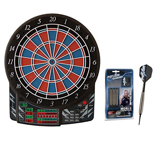 Bulls Dartforce elektronisches Dartboard + Target Phil Taylor Power Silverlight Softdarts