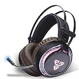 Sandistore Surround Sound Gaming Headset Stereo LED Kopfhörer für PS4, PC, Xb One Controller,...