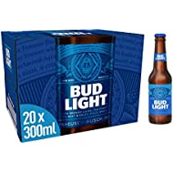 Bud Light Lager Bottle, 20 x 300ml