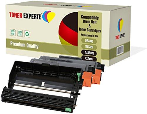 Kit 3 TONER EXPERTE DR2300 Tamburo & TN2320 2 Toner compatibili per Brother HL-L2300D HL-L2340DW HL-L2360DN HL-L2365DW DCP-L2500D DCP-L2520DW DCP-L2540DN MFC-L2700DW MFC-L2720DW MFC-L2740DW