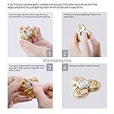 Fidget Spinner, Igearpro Zink-Legierung Metall Hand Tri-Spinner Spielzeug Anti Stress, für Konzentration, Gegen Nervosität, Langes Leises Drehen, 90 g -