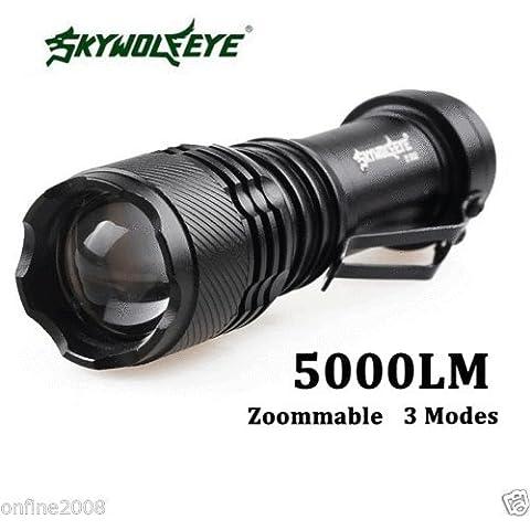 Super Bright 5000LM CREE Q5AA/145003modalità Zoomable LED Torcia Lampada