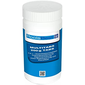 1 Kg - PoolsBest Chlor Multitabs 5in1, 200g Tabs