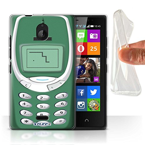 Stuff4® Gel TPU Hülle/Hülle für Nokia X2 Dual SIM/Grünes Nokia 3310 Muster/Vintage Handys Kollektion