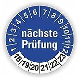 5 - 1.000 Stück Prüfplaketten Prüfetiketten Wartungsetiketten Prüfung Ø 30mm (30 Stück)