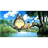 My Neighbor Totoro (44inch x 24inch / 110cm x 60cm) Silk Print Poster - Soie Affiche - 286A89