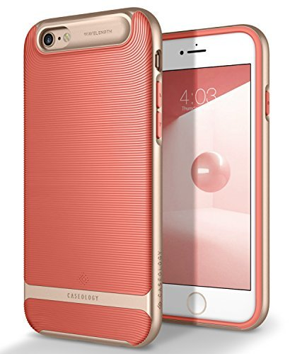 Caseology [Wavelength Series iPhone 6S / iPhone 6 Case - [Stylish & Protective] - Coral Pink