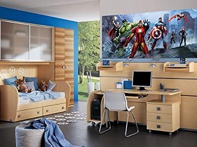 1art1 77458 The Avengers - Iron Man, Captain America, Hulk Und Helden, Ruinen Fototapete Poster-Tapete 202 x 90 cm