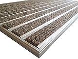 Aluminio Profesional Felpudo para sistema HD60, tamaño 110x 68cm, para empotrada Alfombrilla de instalación en así, incluyendo matwell Marco., Beige