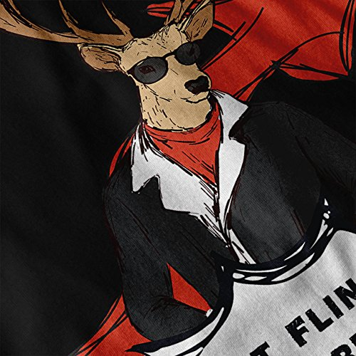 Cerf Nuit En dehors Dernier Jeter Femme NOUVEAU Noir S-2XL Sweat-Shirt | Wellcoda Noir