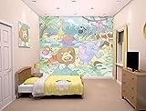 Walltastic WT4059 Baby-Junglesafari Fototapete 12 Teilstücke, 1.22 m x 0.5 m
