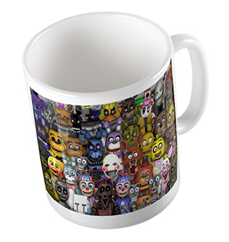 FIVE NIGHTS AT FREDDY'S ALL CHARACTERS MUG