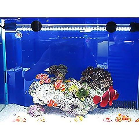 Geediar 30LED Aquarium Light Waterproof Fish Tank LED Light Bar 28.5cm/11Inch 30LED Submersible Aquarium Decoration(White Light)