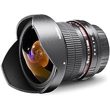 Walimex Pro - Objetivo ojo de pez 1:3,5 DSLR para Sony Alpha, color negro