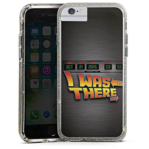 Apple iPhone 6s Plus Bumper Hülle Bumper Case Glitzer Hülle Zukunft Future Marty Bumper Case Glitzer gold