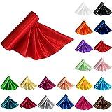 TtS 29CM X 20M Satin Roll Fabric Chemin de Table Sashes Swags Mariage Ceremonie Fête--Rouge