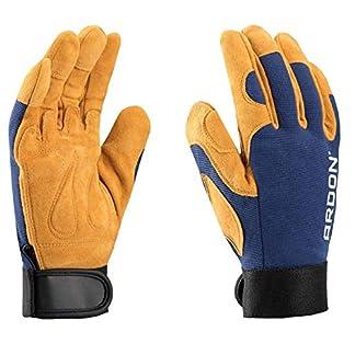 PREMIUM guantes de trabajo de lujo, para la mecánica, montaje, embalaje, almacén, jardinería, el transporte, guantes de motocicleta, las tareas domésticas, hobby