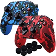 Kono Water Transfer Printing Camouflage Silicone Cover Skin Case for Microsoft Xbox One X & Xbox One S con