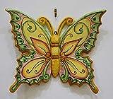 Farfalla grande in ceramica dipinta a mano