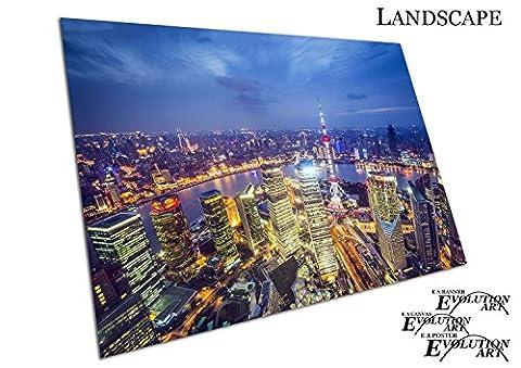 Ville de Shanghai Chine vue aérienne Paysage urbain Skyline, A1