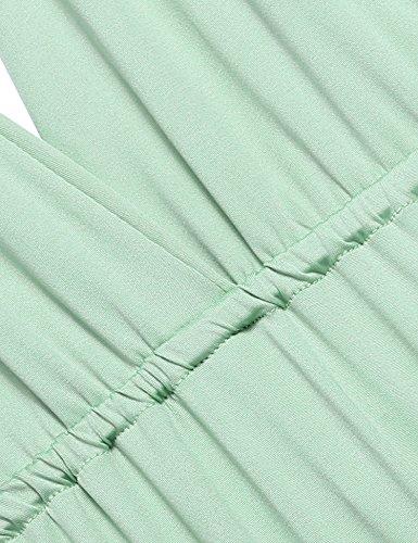 ZEARO Abendkleid Damen Kleider Abendkleid elegant Vintag Kleider hochzeit festlich Partykleid lang Grün