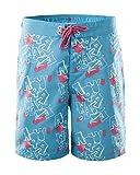 AquaWave Shorts Badeshorts Badehose für Jungen - leicht, schnelltrocknend - mit Netzslip - für Pool, Strand, Freizeit - Aquaman Jr, Blau/Weiß/Ko, 164