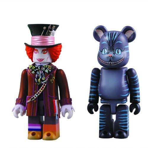 Medicom Alice in Wonderland: Mad Hatter Kubrick und Grinsekatze Bearbrick Set