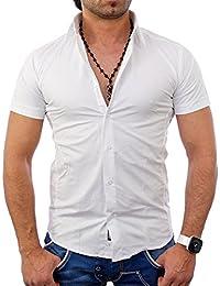 Tazzio - Chemisette homme blanche Chemise TZ7020 blanc - Blanc