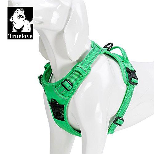 Outdoor-geschirr Hund (Truelove Hundegeschirr TLH5651,verhindert Zerren, reflektierende Nähte sorgen für Sichtbarkeit in der Nacht, für Abenteuer im Freien, groß)