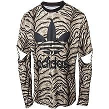 best service 49cf0 eff8a adidas Originals Jeremy Scott JS Slash del Trébol de Los Hombres de Tigre –  Camisa de