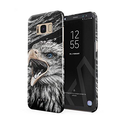 BURGA Hülle Kompatibel mit Samsung Galaxy S8 Plus Handy Huelle Vogel Wild Adler Eagle Savage Dünn, Robuste Rückschale aus Kunststoff Handyhülle Schutz Case Cover