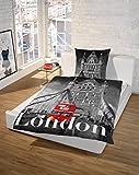 SCHLAFWOHL® Reinforce Fotodruck Bettwäsche I 100% Baumwolle I Fotodruck I Design: London
