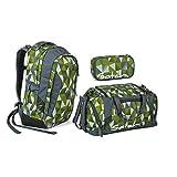 Satch Sleek Schulrucksack Set 3tlg. - Farbauswahl (Satch Sleek Green Crush...