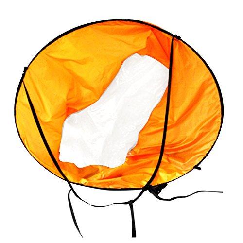 NON Plegable 46' Kayak Barco Viento Vela Tabla De Paddle Vela con Ventana Transparente - Naranja