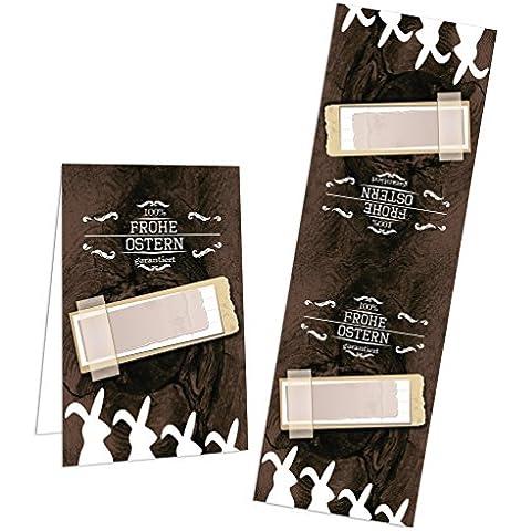 10pezzi Vintage Banderolen Pasqua etichette da incollare; klebende coniglietti in bianco e nero marrone per Oster regali–di adesivo etichette per sacchetti regalo zukleben & Co.