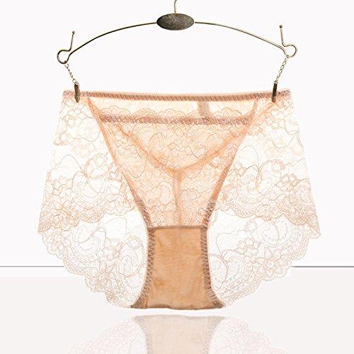 RRRRZ*Bustiers lace tentación hembra grande transparente de alta cintura cadera abdomen ropa interior 3 La Sra. Kok ,XL, pantalones color