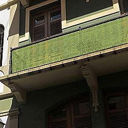 Liveinu Brise-Vue pour Balcon et Jardin,Protection UV Opaque Revêtement De Balcon Résistant Aux Intempéries avec Serre-Câbles, Pare-Soleil pour Balcon Protection Visuelle 100x400cm Vert