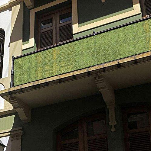 Liveinu Balkonbespannung Balkon Sichtschutz Windschutz Sichtblende UV-Schutz Witterungsbeständig...
