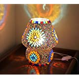 [Sponsored]Tied Ribbons Multicolour Mosaic Style Dome Shaped Glass Table Lamp For Gift & Home Decor | Table Lamp In Living Room | Show Piece For Home