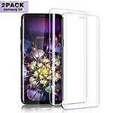 Nutmix Galaxy s9 Vetro Temperato, [2 Pack] Copertura Completa Pellicola protettiva Bordi Arrotondati, Ultra-Clear Screen per Samsung Galaxy S9, Anti-graffio, Anti-impronte, 9H Durezza