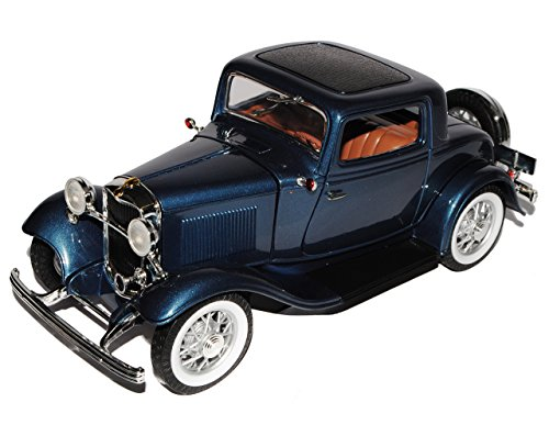 Ford 3-Window Coupe 1932 Grau Blau Hot Rod Oldtimer 1/18 Yatming Modellauto Modell Auto