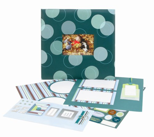 CR. Tapisserie Gibson All Occasion Blue Circles Scrapbook-Set