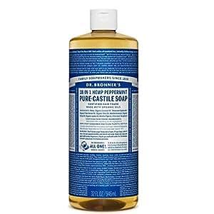 Dr Bronner Organico Peppermint Castiglia Sapone Liquido 946Ml (Confezione da 6)