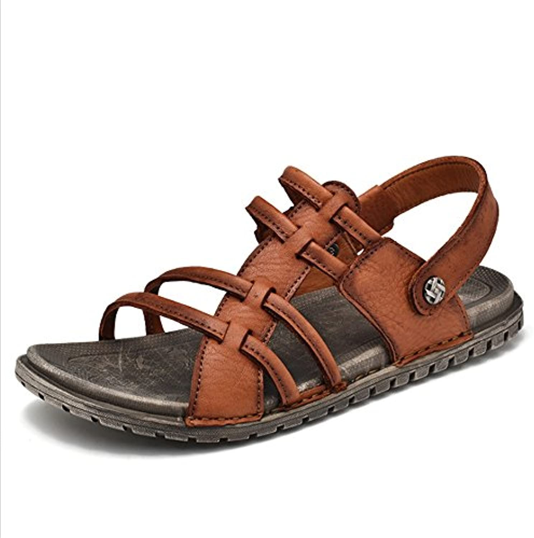 Sandalias para Hombre Al Aire Libre, Zapatos De Playa Negros Sandalias Ligeras Y Transpirables (24.0-27.0) CM